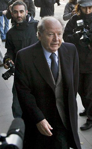 El constructor y ex presidente del Barcelona, Josep Lluis Núñez. /Efe