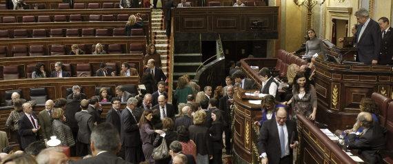 Un momento de la votación secreta que se produjo en el Congreso sobre la retirada del proyecto de ley del aborto. / Efe
