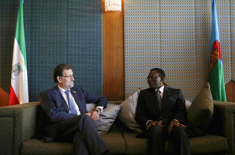 Rajoy_en_África_reunión_Obiang