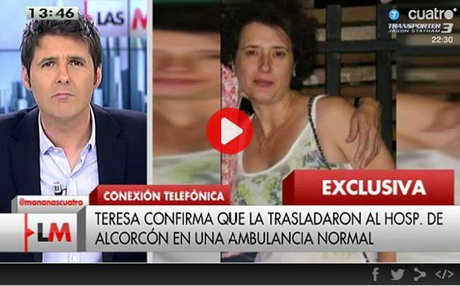 Captura de la página de Cuatro en la que se informa de la entrevista con la enfermera infectada por ébola. / cuatro.com