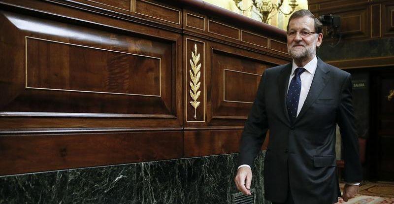Mariano Rajoy, ayer, en el pleno del Congreso de los Diputados. / Juanjo Martín (Efe)