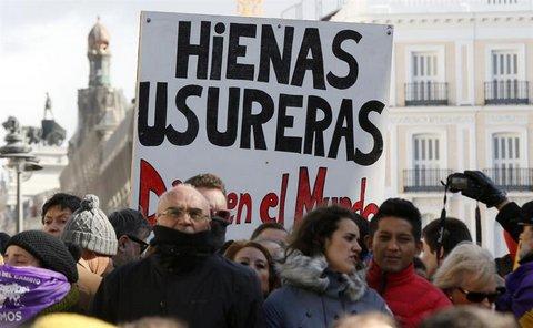 Manifestación de Podemos