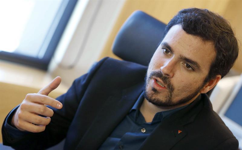 El candidato de IU a la presidencia del Gobierno, Alberto Garzón, en una imagen del pasado martes. / JJ Guillén (Efe)