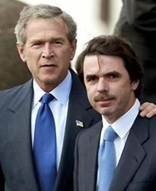 George Bush y José María Aznar en la foto de las Azores /Efe
