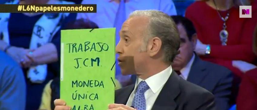 Eduardo Inda, durante su intervención en La Sexta Noche el pasado sábado. / Captura de la Sexta Noticias