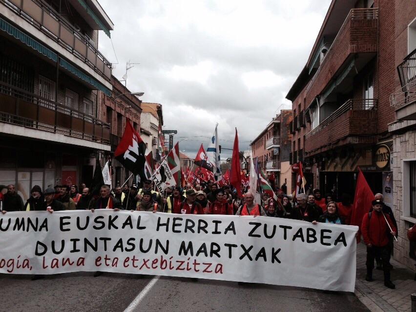 La Marcha Norte de camino hacia el centro de Madrid. / Félix Irizar
