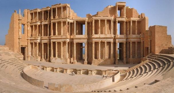 Teatro romano de Sabratha, uno de las más valiosas ruinas existentes en Libia. / Wikipedia