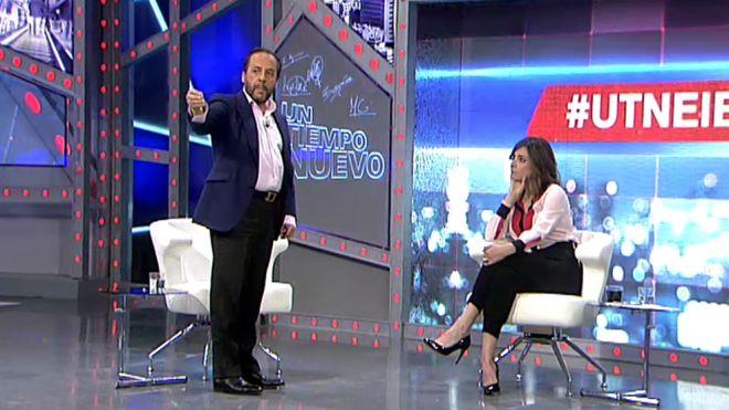 'El Bigotes' durante su intervención en el programa de Telecinco 'Un tiempo nuevo'. / Captura de YouTube