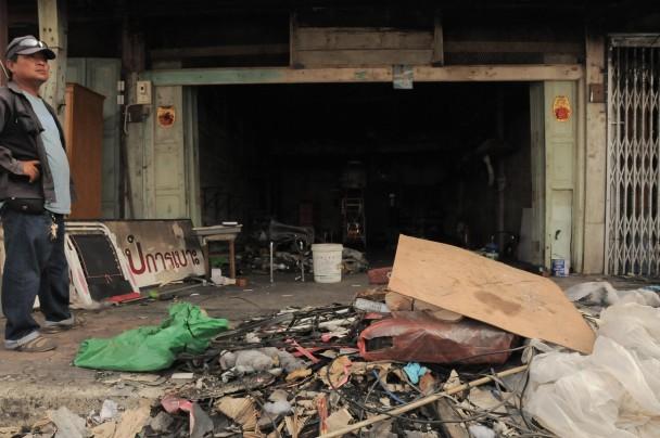 Escenario de una de las explosiones en Yala. / M. G. P.