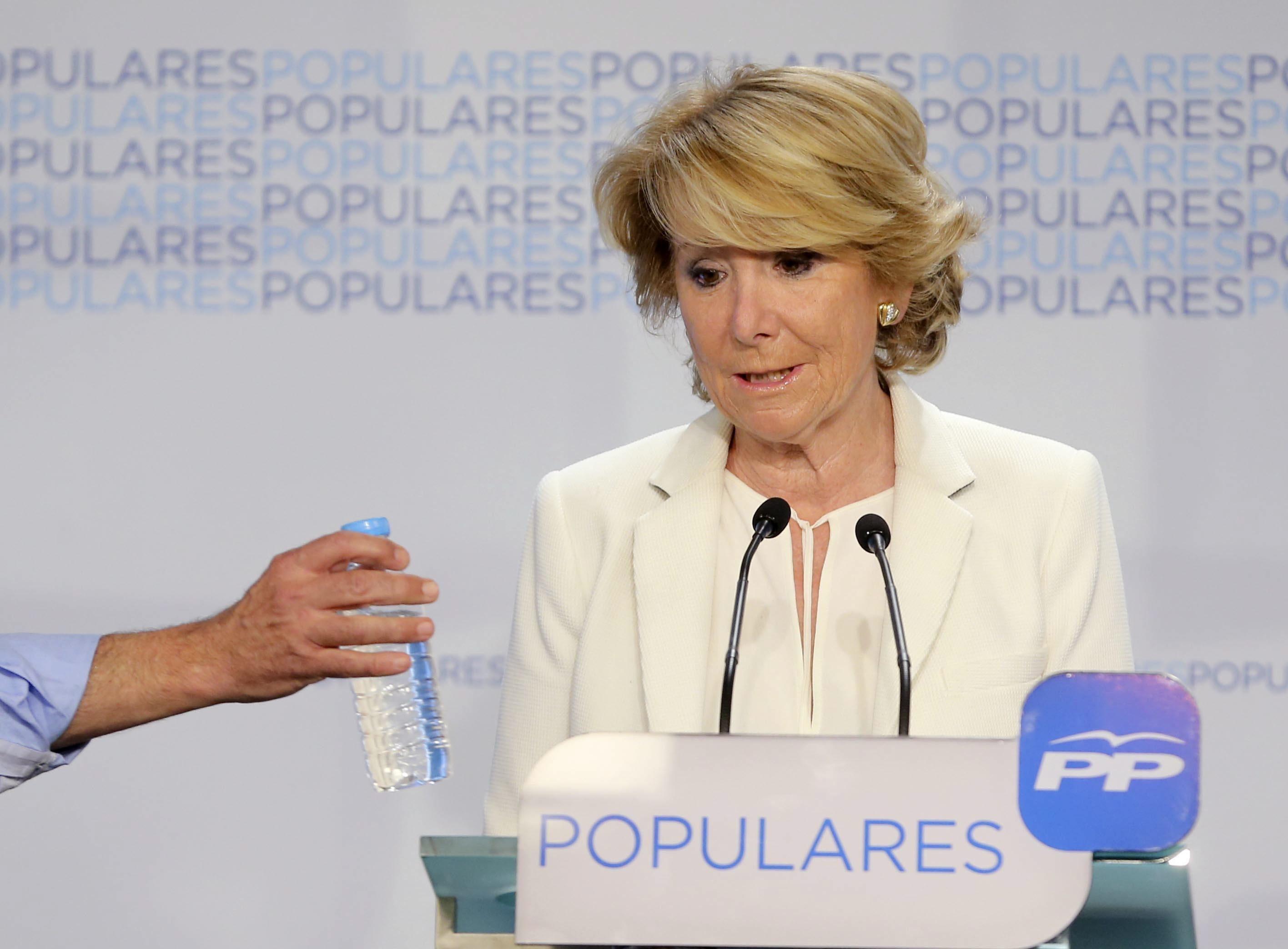 Comparecencia de Esperanza Aguirre Elecciones 2015