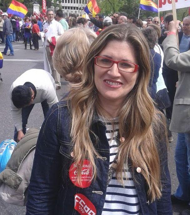 Raquel López, candidata de IU al Ayuntamiento de Madrid. / Fotos: Miguel Muñoz