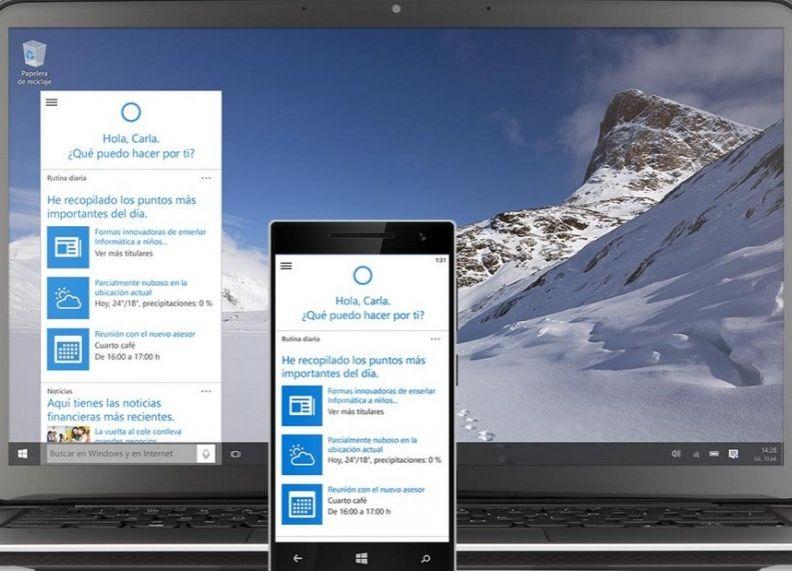 El asistente de voz Cortana será una de las principales novedades del nuevo Windows 10. / Foto: Microsoft