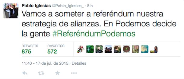 Tuit_Iglesias_referéndum_Podemos