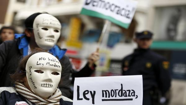 """Imagen de una de las protestas celebradas en contra de la """"ley mordaza"""". / Efe"""