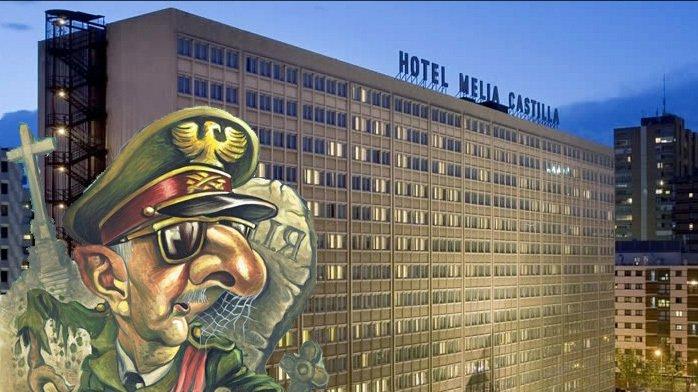 Imagen de la campaña de change.org contra la celebración de un homenaje a Francisco Franco en el hotel Meliá Castilla. / change.org
