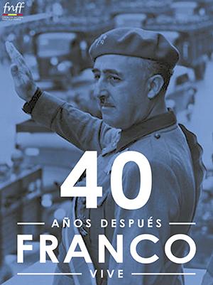 Cartel de la convocatoria del homenaje a Franco.