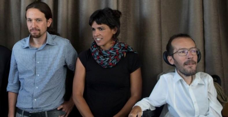Pablo Iglesias, Teresa Rodríguez y Pablo Echenique, en una imagen de archivo. / Efe