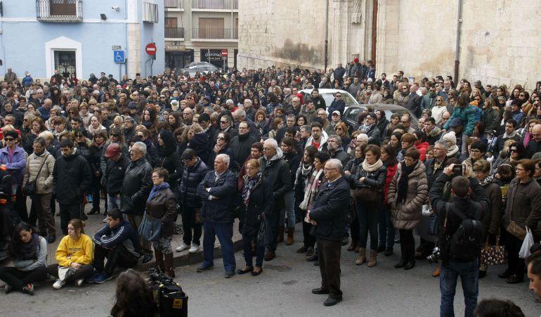 Concentración el pasado 23 de diciembre en Villena (Alicante) tras el último asesinato por violencia machista. / Morell (Efe)