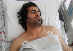 Refik Kekin, hospitalizado tras recibir el disparo en la pierna. / Bestanuce
