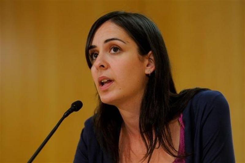 Rita Maestre en el ejercicio de su trabajo como portavoz del Ayuntamiento de Madrid. / Ayuntamiento de Madrid
