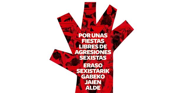 Imagen de la campaña contra las agresiones sexistas del Ayuntamiento de Pamplona . / http://sanfermin.pamplona.es/