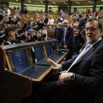Mariano Rajoy, ayer, en el Congreso, durante la sesión constitutiva de las Cortes Generales de la XII Legislatura. / J.J.Guillén (Efe)