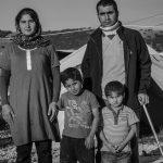 Familia de refugiados iraquíes. / Efe