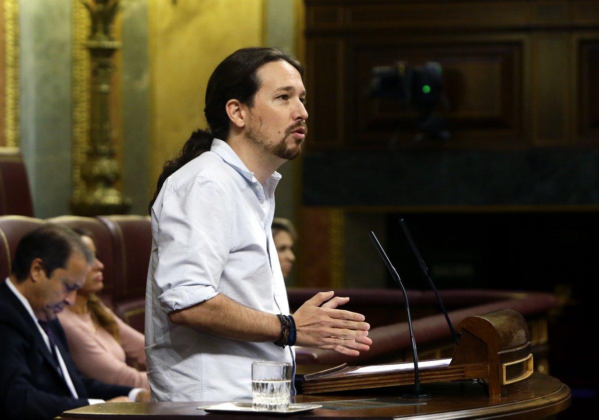 Pablo Iglesias. Investidura de Mariano Rajoy.