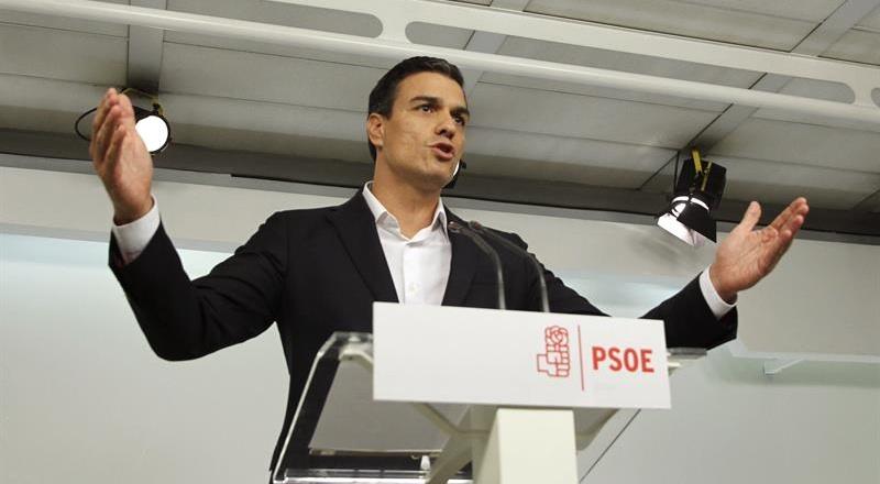 Pedro Sánchez, ayer, durante su declaración previa al Comité Federal.