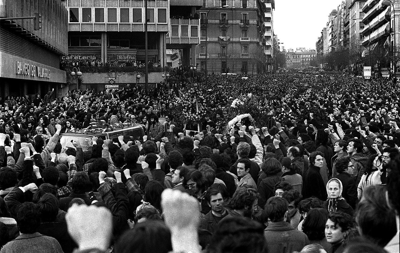 Cortejo fúnebre Abogados de Atocha