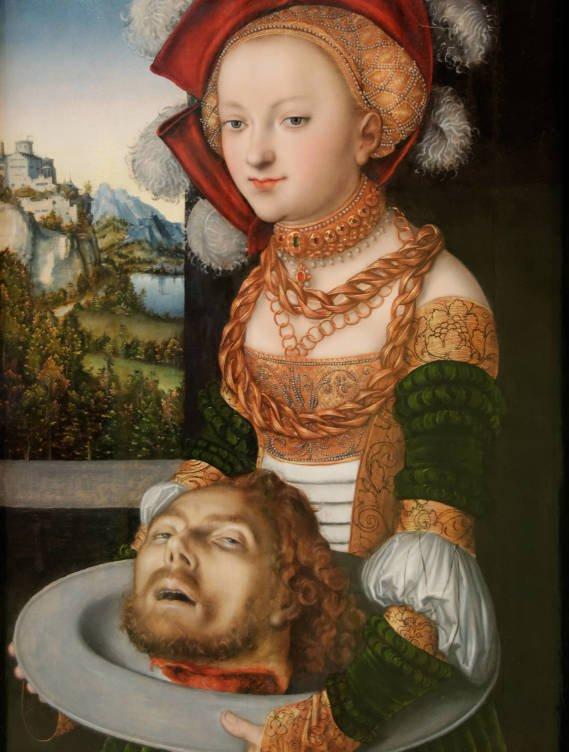 Salomé con la cabeza de San Juan Bautista, de Lucas Cranach 'el Viejo'.