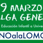 Cartel llamando a la huelga general en la educación, el próximo jueves 9 de marzo. / FAMPA Ceuta
