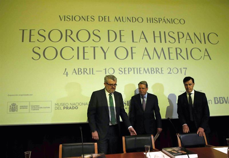 presentación de la exposición 'Visiones del mundo hispánico. Tesoros de la Hispanic Society of America'