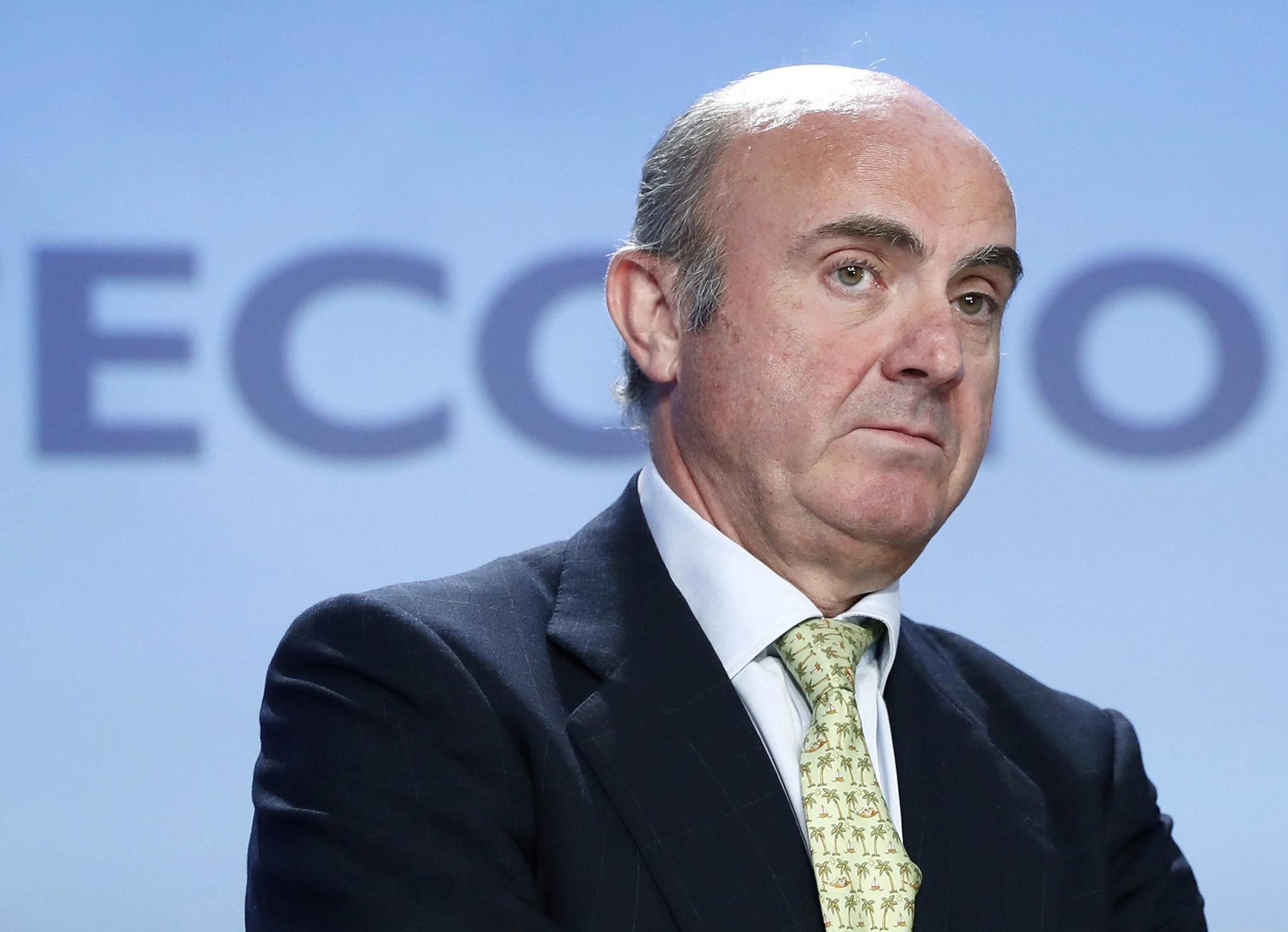 El ministro de Economía, Industria y Competitividad, Luis de Guindos, el pasado día 25, en la inauguración de la XXXIII Reunión del Círculo de Economía de Sitges.