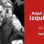Uno de los carteles utilizados por Pedro Sánchez durante la campaña de las primarias.