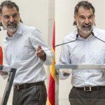 Jordi Cuixart, el pasado 28 de junio, durante el acto posterior a la subida al Canigó, organizado por Òmnium Cultural