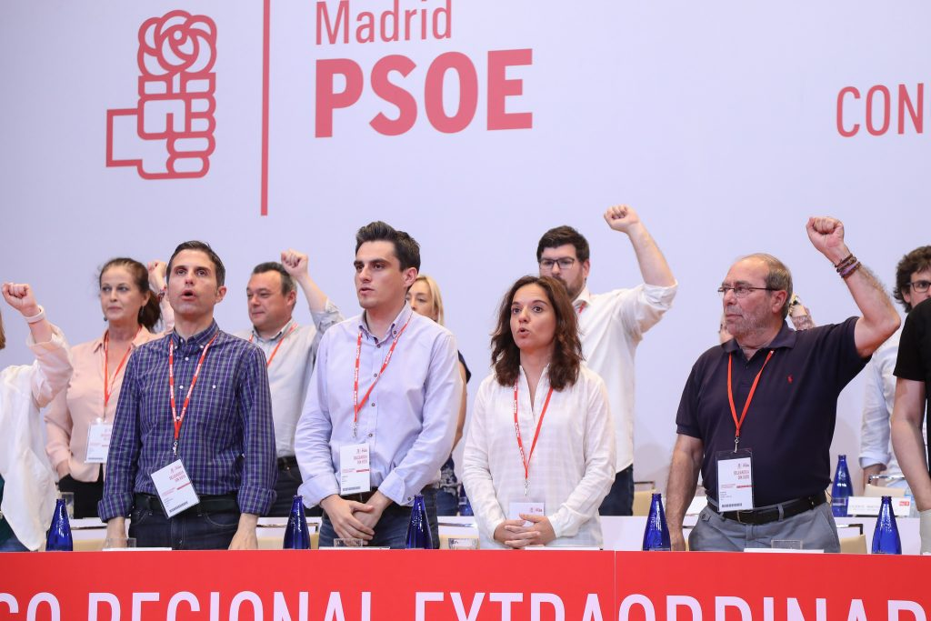 Sara Hernández en el Congreso del PSOE de Madrid.