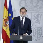 Mariano Rajoy en un momento de su comparecencia institucional sobre la crisis de Cataluña.