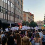 manifestación por el aborto libre y legal en Madrid.