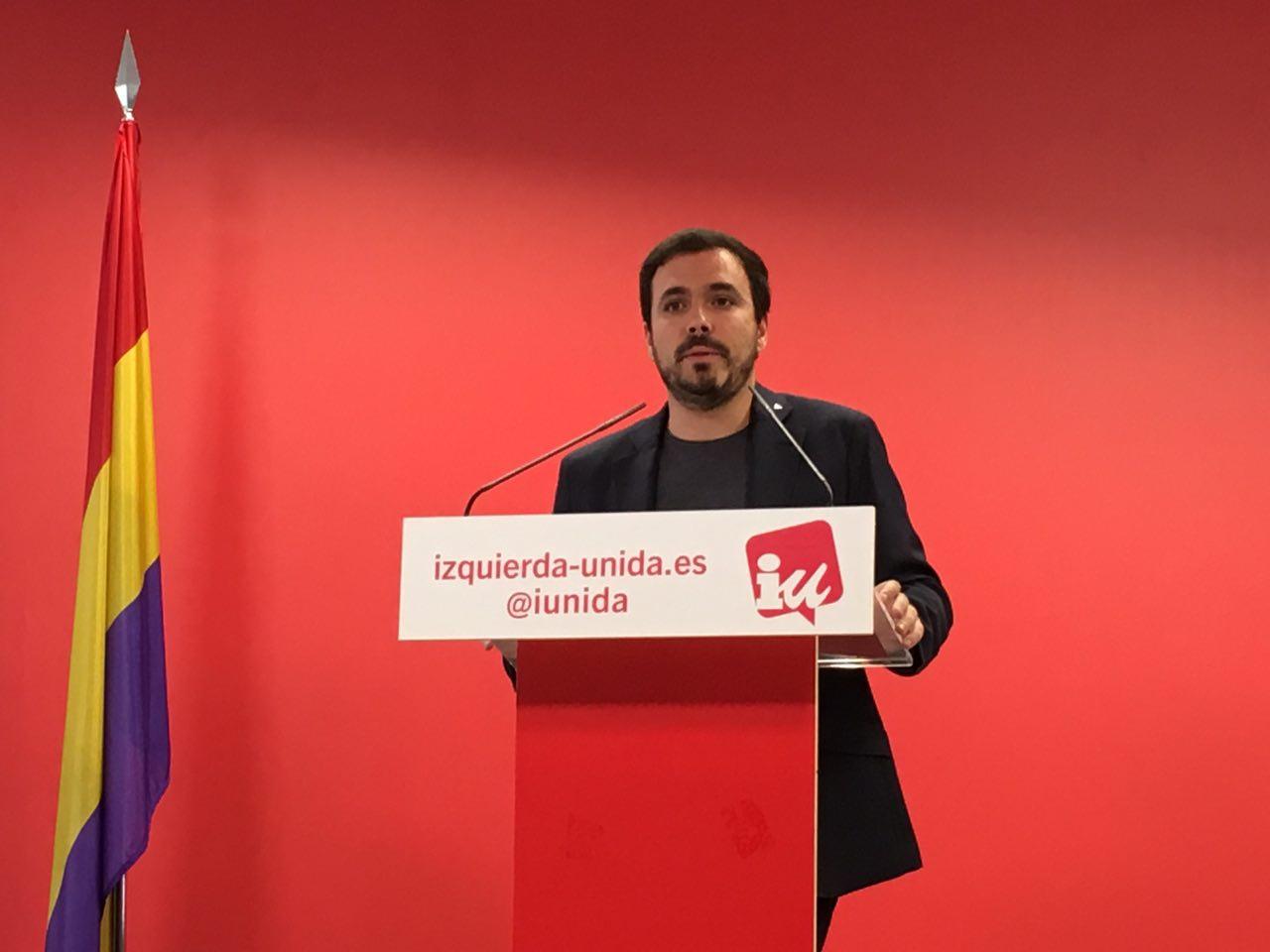 Garzón explicando qué es el bloque reaccionario y el democrático