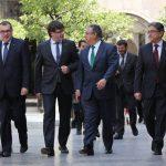 El president, Carles Puigdemont, presidiendo la última Junta de Seguridad.