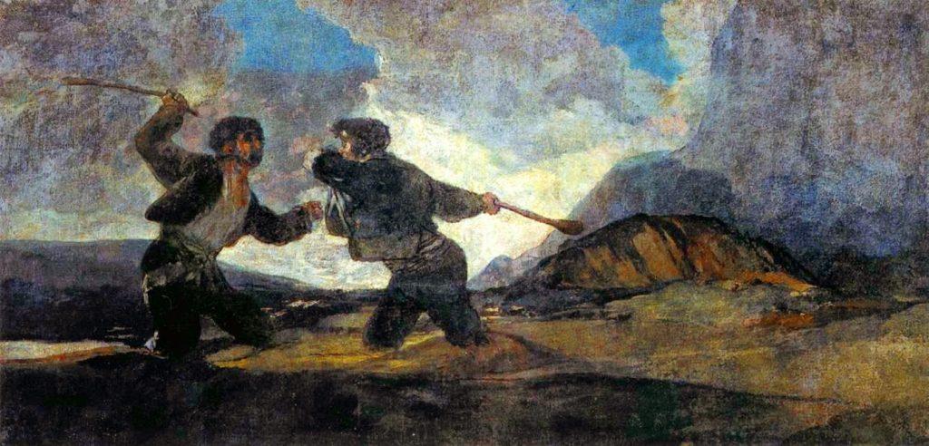 Duelo a garrotazos', cuadro de Francisco de Goya