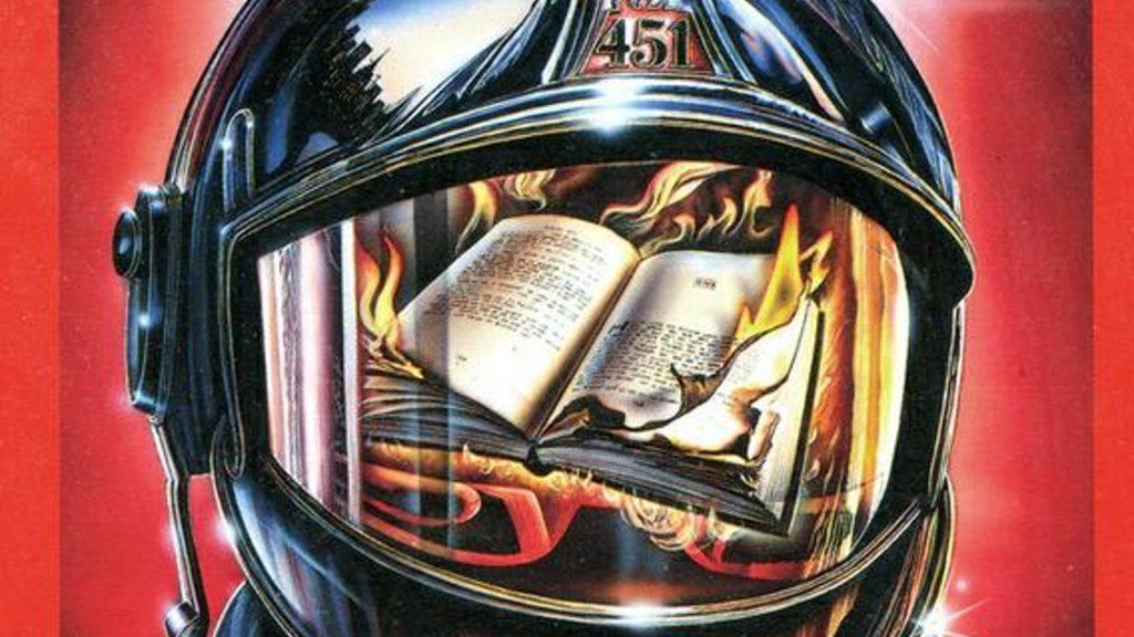 Dibujo de Phillip Wachowiak inspirado en la novela Farenheit 451, de Ray Bardbury