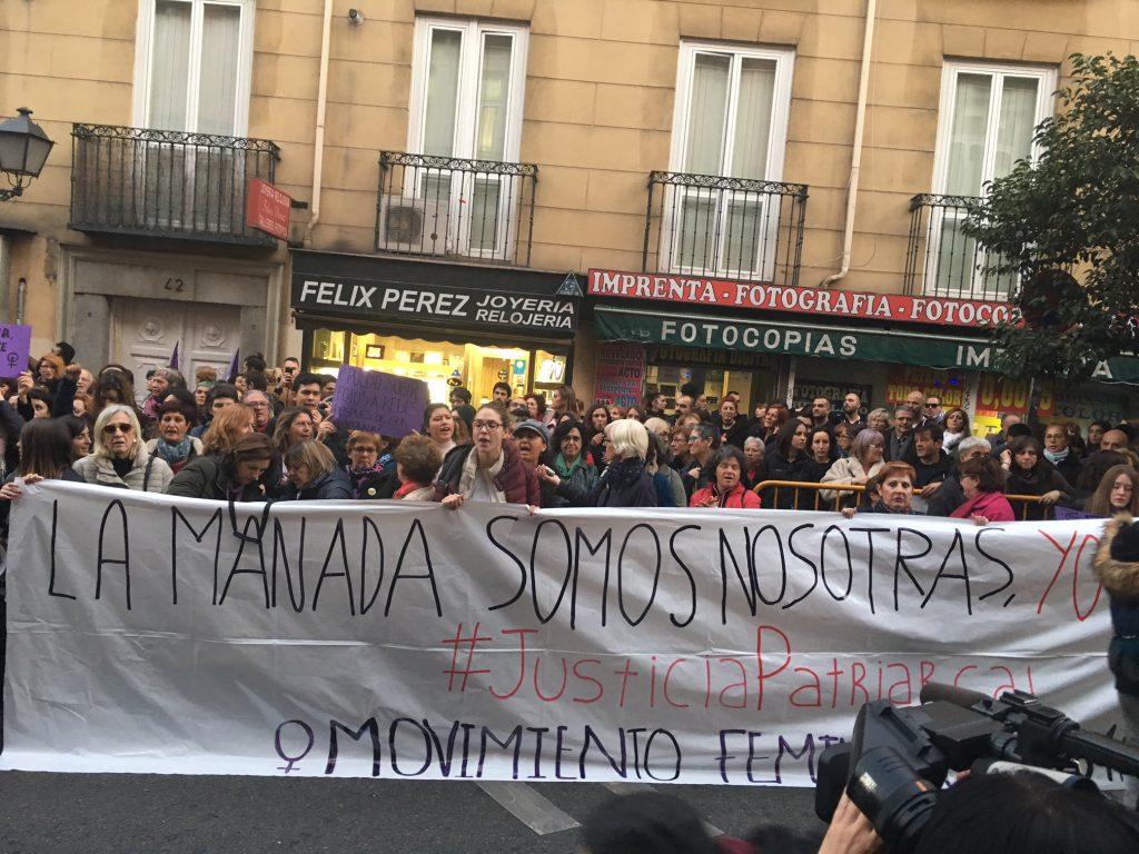 Concentración frente al Ministerio de Justicia contra la justicia patriarcal,
