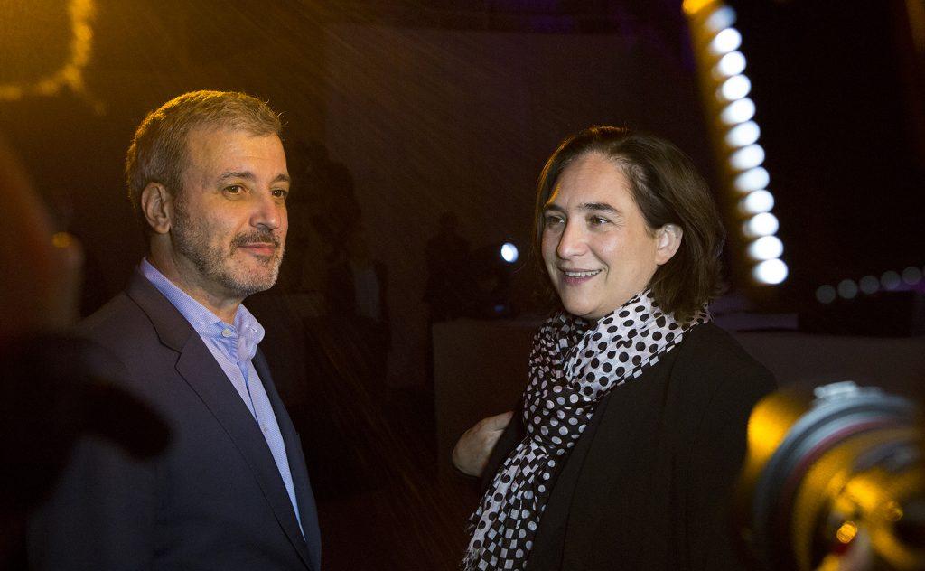 Jaume Collboni y Ada Colau