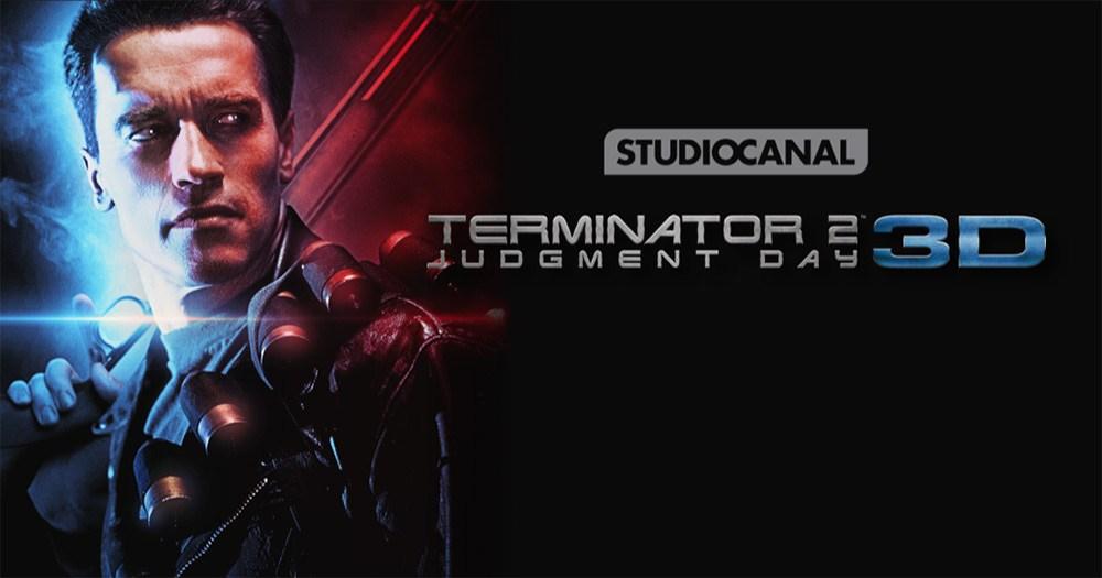 Cartel anunciador de la nueva versión en 3D de Terminator 2.