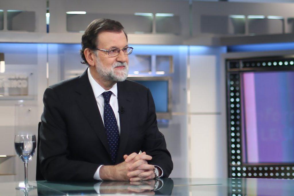 Mariano Rajoy duante una entrevista con Telecinco