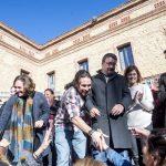 Colau, Iglesias, Domènech, Alamany y Garzón en acto electoral de CECP