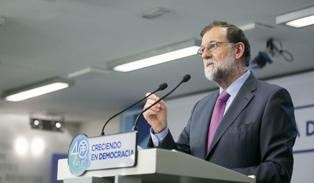 Mariano Rajoy, el pasado 15 de enero, presidiendo la Junta Directiva Nacional del Partido Popular