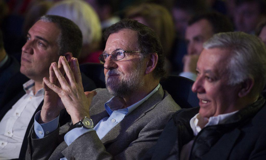 Mariano Rajoy, el pasado sábado, en la presentación de los candidatos del PP andaluz a las elecciones municipales